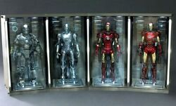 HOT TOYS IRON MAN HALL OF ARMOR SET OF 4 SHIPPER SEALED STILL !!!! WORKSHOP IM3