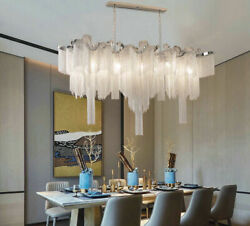 LED Tassel aluminum chain hanging lamp chandelier lamp ceiling lamp Hall Decor