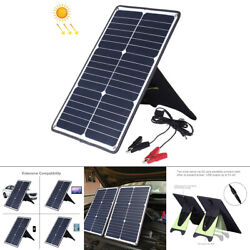 Portable 20w Solar Power Panel Kit Battery Charger For Car Boat Mobile Phone