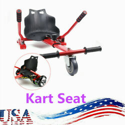 Hover Kart Go Karts Cart Racing Seat For Two Wheel Balance Electric Scooter Red
