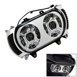 Led Dual Headlight Assembly W/ Turn Signal Light Fit For Harley Road Glide 15-19