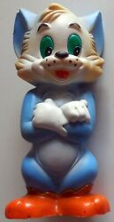 Vintage Rubber Toy Squeak Tom No Jerry Hanna Barbera Mgm Metro Golden 1960s