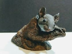 Cast Bronze White Footed Mouse Aus-ben Wildlife Collection By Charles Earnhardt