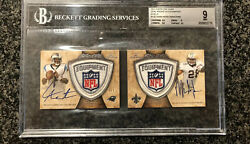 2011 Topps Five Star Cam Newton Mark Ingram Dual Rookie Patch Auto Shield 1/1 Rc