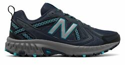 New Balance Women's 410v5 Trail Shoes Grey with Blue $38.99