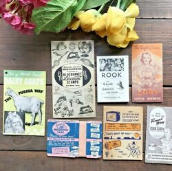 Vintage Advertising Lot Mead's Fine Breadpurinarookpress On Tape And More