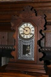 Antique Ansonia Parlor Mantle Kitchen Clock 8-day Working Condition