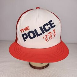The Police Ghost In The Machine Hat Vintage 80s 1982 Tour Trucker Cap Boutwell