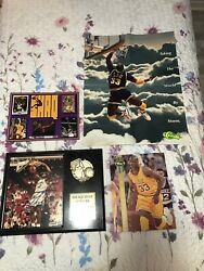 Shaquille Oand039neal Collectible Lot W/autographed Photo On Plaque