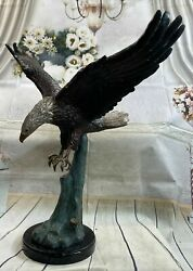 Bronze Eagle Large And Signed Collector Magnificent Statue Sculpture Figure Art