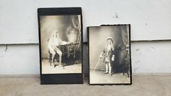 Antique Picture Young Boy Theater Costume Sword