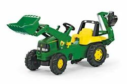 Rolly Toys John Deere Pedal Tractor With Working Loader And Backhoe Digger Yo...