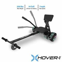 Hover-1 Chrome 2.0 Electric Hoverboard And Adjustable Go-kart Attachment - Co...