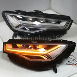 Full Led Head Light For 2012-2015 Year Audi A6l Afs Version Led Strip Front Lamp