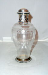 Antique Silver And Crystal Perfume/oil Glass Handmade G. Keller