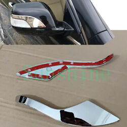 2x For Honda Cr-v Crv 2007-2009 Car Left+right Rearview Mirror Abs Silvery Trim