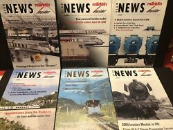 Marklin Insider Club News Magazine For 2008 Complete Year 6 Issues Railroading
