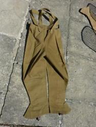 Wwii British Army Despatch Rider's Rubberproofed Leggings Over Trousers Size 4