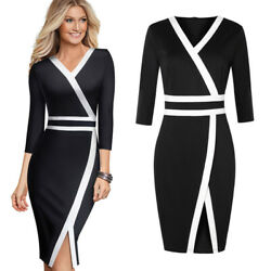 Women#x27;s Elegant Work Business Office Formal Party Cocktail Pencil Church Dress $15.99