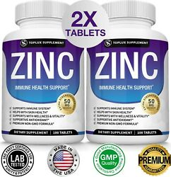 Zinc Complex 50 Mg Two Bottles - Immune System Booster And Support