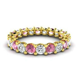 2.03 Carat Real Diamond Ruby Ring For Womenand039s 14k Solid Yellow Gold Size 5 6 7 8