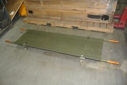 Vintage Military Cot / Gurney / Stretcher 1960and039s Civil Defense [whse]