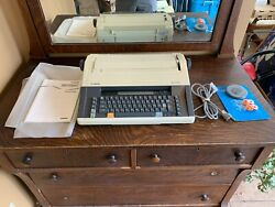 Vintage Canon Mx350 Electronic Typewriter W/ New Ribbon And Extras