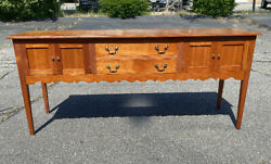 Vintage Van Sinderen Woodworking cherry sideboard  hunt board handmade original