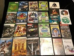Pc Console Video Game Lot Computer Games Xbox The Sims Age Of Empires Crysis Rpg