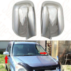 2x For Honda Crv Cr-v 2001-2006 Car Front Left+right Rearview Mirror Covers Abs