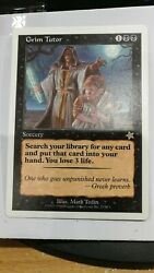 Magic The Gathering Grim Tutor Starter 1999contact For Best Price