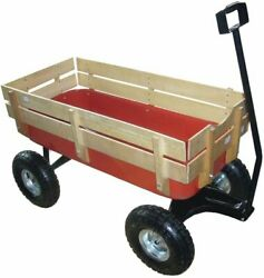 Valley Industries Big Foot Pull Behind Wagon With All Terrain Tires And Wood...