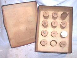 Early Edison Columbia Cylinder Phonograph Record Holder Holds 12