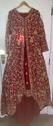 Asian Indianstunning Bridal Lengha Wedding Dress Party Wear Heavy Red