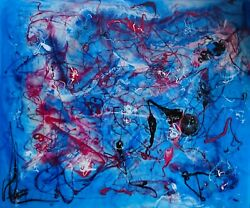 Abstract Painting The Theme Of Swan