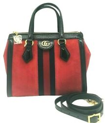 Womens Designer Gucci Ophidia Red small tote bag $1,465.52