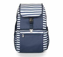Beach Cooler Backpack Insulated Blue amp; White Stripes Holds 20 12 Ounce Cans NWT $34.99