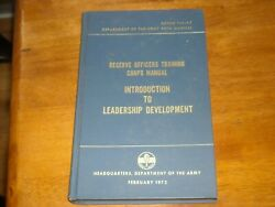 Reserve Officers Training Corps Manual Introduction To Leadership Development...