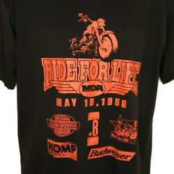 Ride For Life Mda T Shirt Vintage 90s 1996 Muscular Dystrophy Made In Usa Large