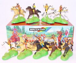 Britains Ltd 132 Power Riders Wild West Cowboys Andindians Full Counterpack Mb`93
