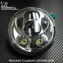 5-3/4 5.75 Led Headlight High Low Beam Projector For Harley Rocker C 2008-2011