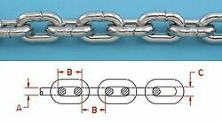 200ft Stainless Steel Anchor Chain 316l 3/8 Din 766 Bbb Repl S0601-0008