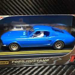 Pioneer J020217 Mustang Gt390 Route 66 Blue Slot Car 1/32 Scalextric Dpr