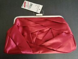 STEVE MADDEN RED CLUTCH HANDBAG PURSE NEW WITH TAGS ORIG.$38 AT MACY#x27;S. $5.99
