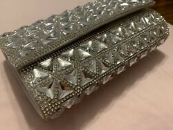 party purses clutch bags Silver Stone $22.00