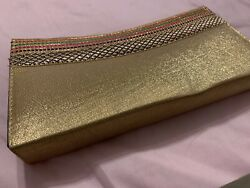 party purses clutch bags Golden $7.00