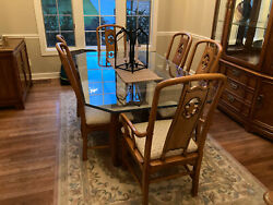 Thomasville Dining Rm - Table/chairs-hutch-buffet Set