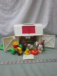 Fisher Price Little People Play Family Farm Barn Chunky 2555 Set Lot Toy C