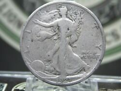1921 D Walking Liberty Half Dollar 50c 11 East Coast Coin And Collectables Inc