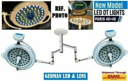New Stainless Surgical Paris 48+48 Operation Theater Lamp With German Led And Lens